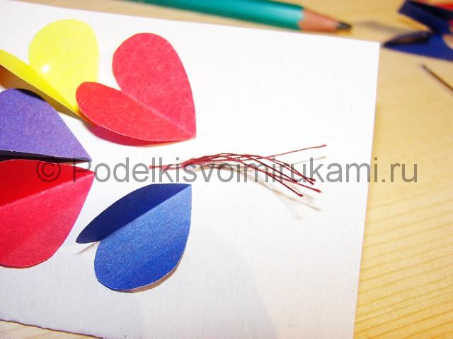 Изготовление валентинки из бумаги - фото 10.