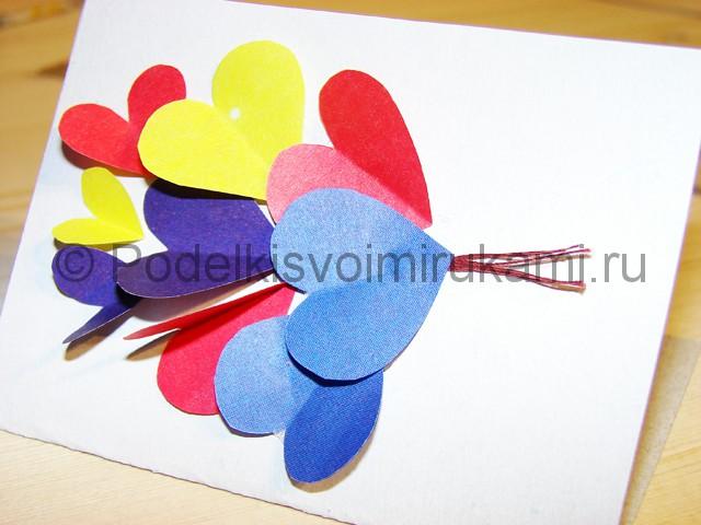 Изготовление валентинки из бумаги - фото 12.