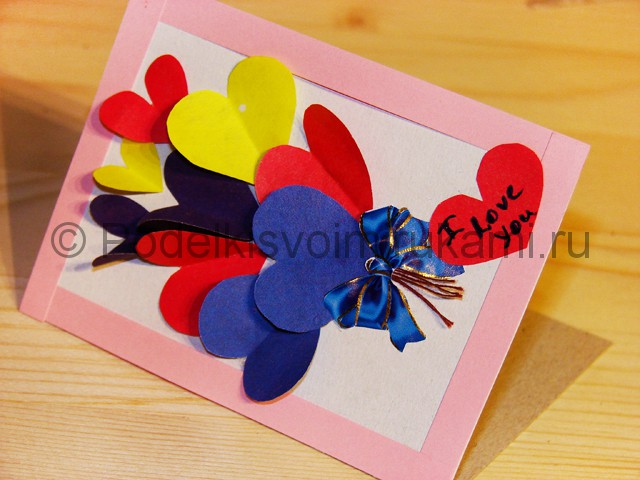 Изготовление валентинки из бумаги - фото 21.