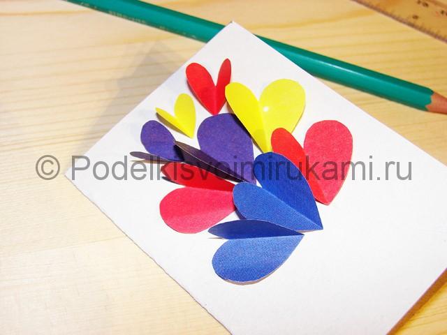 Изготовление валентинки из бумаги - фото 9.