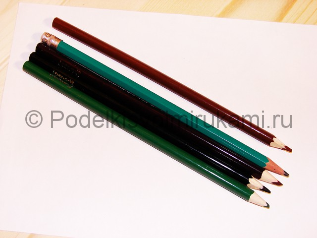 Рисуем дерево цветными карандашами - фото 1.