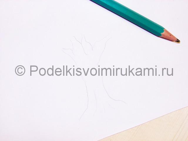 Рисуем дерево цветными карандашами - фото 2.