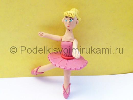 Балерина из пластилина. Итоговый вид поделки.