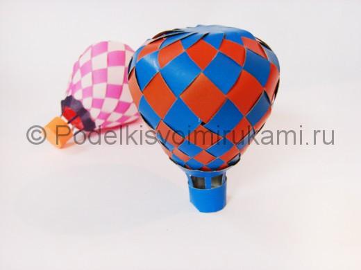 Как сделать воздушный шар из бумаги. Итоговый вид поделки.